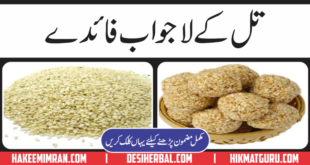 Sufaid Till (sesame seeds) Kay Faiday in Urdu