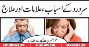 Sar Dard ( Headache ) kay Elaj K Desi Totkay in Urdu & Hindi