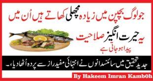 The Benefits Of Eating Fish At Childhood in Urdu