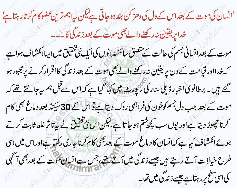 Which Parts Of the Human Body Will Remain Alive After Death in Urdu (2)