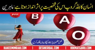 Blood Group Personality In Urdu Information
