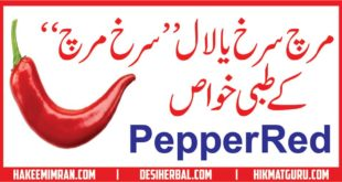 Lal Mirch (Red Pepper) Benefits in urdu لال مرچ کے طبعی خواص