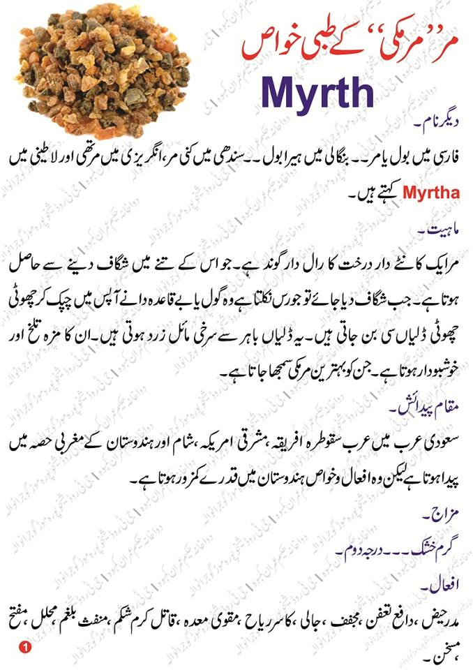 Murmaki (Myrth) Benefits in urdu مرمکی کے فائدے