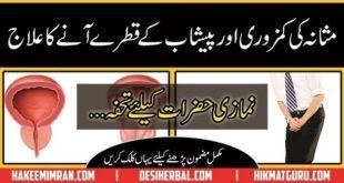 Masanay Ki Kamzori ( Weakness Of Urine Bladder ) Ka Ilaj In Urdu