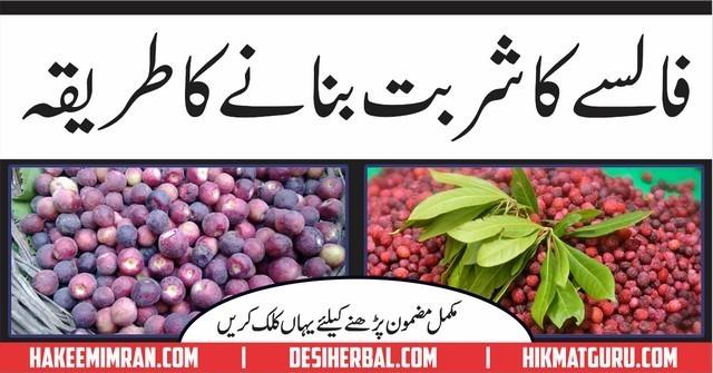 False ka Sharbat Banane Ka Tareeqa In Urdu