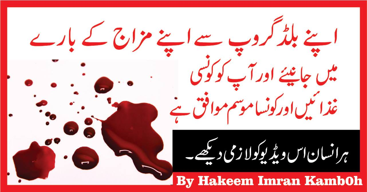 Blood groups types and personality characteristics in urdu
