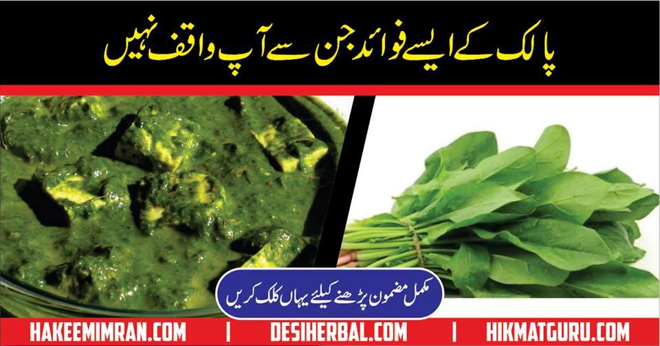 Palak Spinach Palak Ke Faide Spinach Benefits In Urdu
