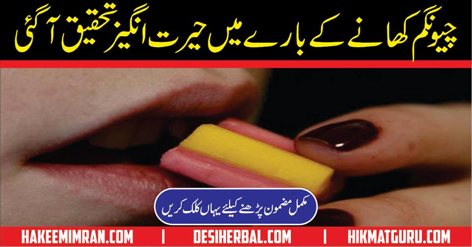 Bubble Gum Benefits Chewing Gum Benefits in Urdu