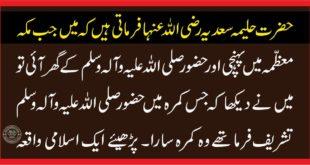 حضرت حلیمہ سعدیہ رضی اللہ عنہا اور حضور صلی اللہ علیہ وآلہ وسلم کے بچپن کا واقعہ